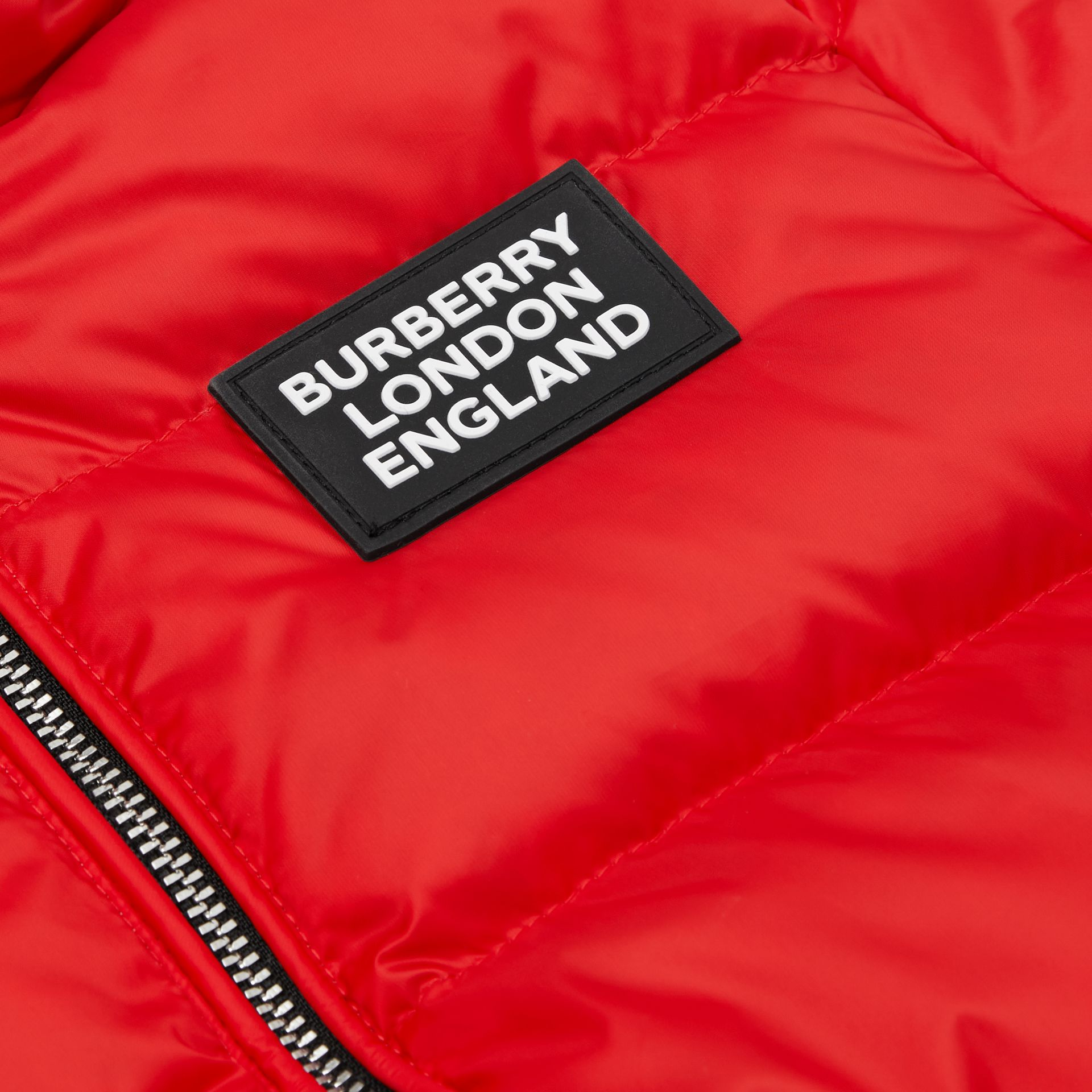 Reversible Vintage Check Down-filled Puffer Jacket in Bright Red - Children | Burberry - gallery image 1