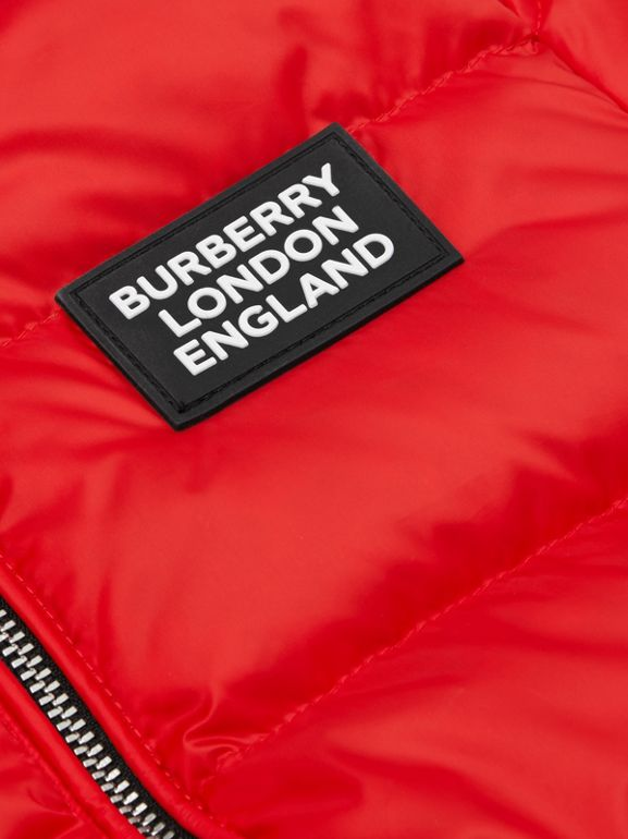 Reversible Vintage Check Down-filled Puffer Jacket in Bright Red - Children | Burberry - cell image 1