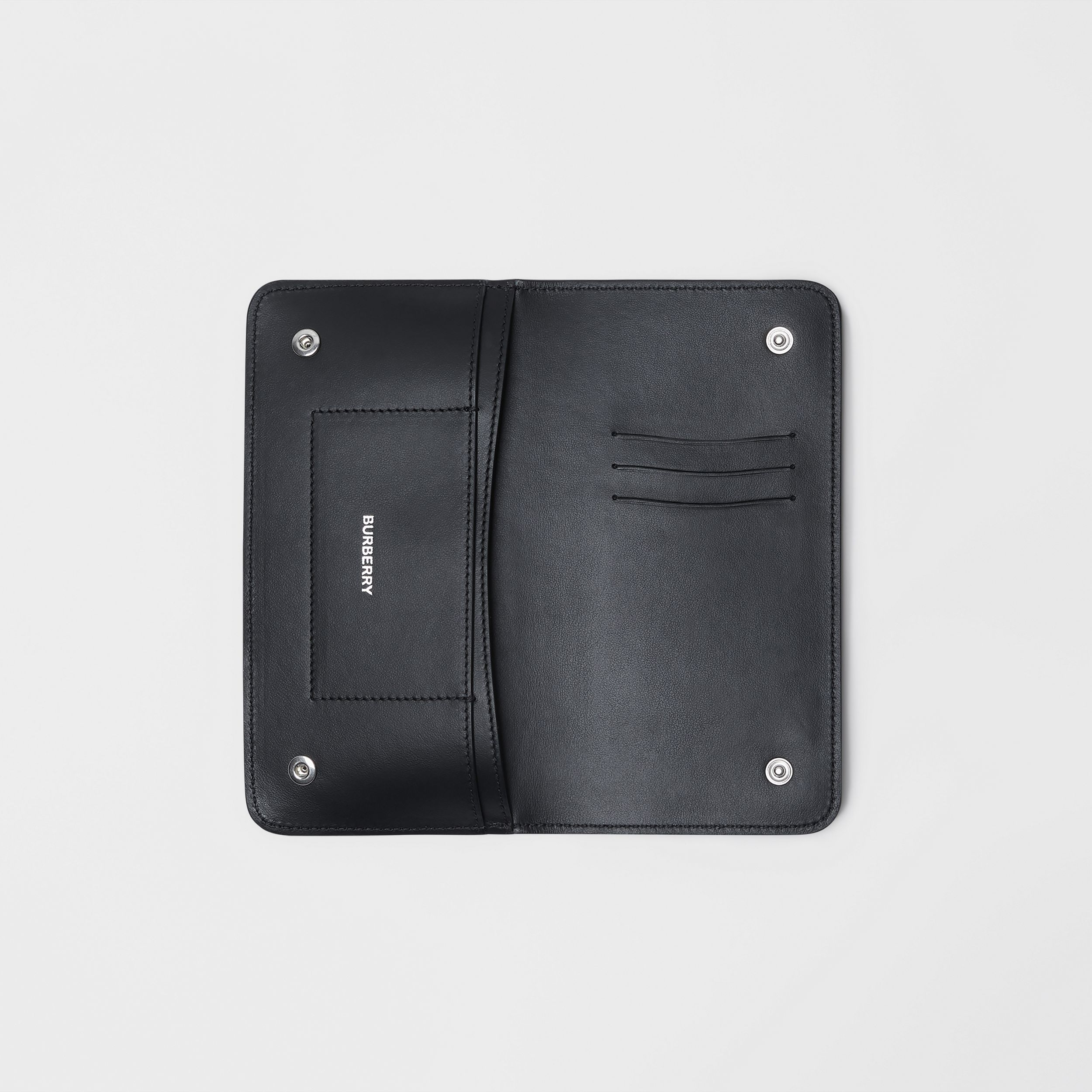 Leather Phone Wallet in Black | Burberry - 3