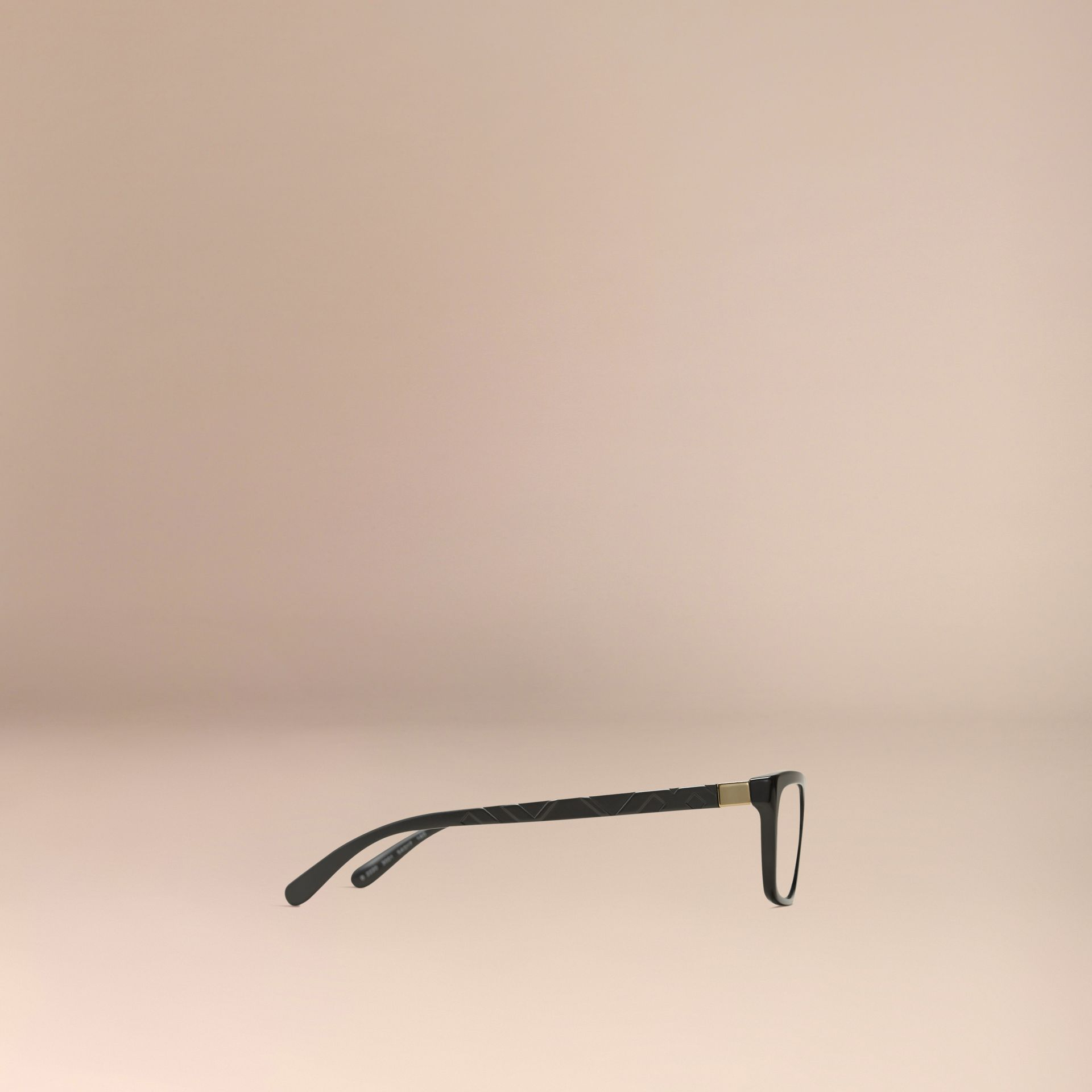 Check Detail Rectangular Optical Frames Black - gallery image 5
