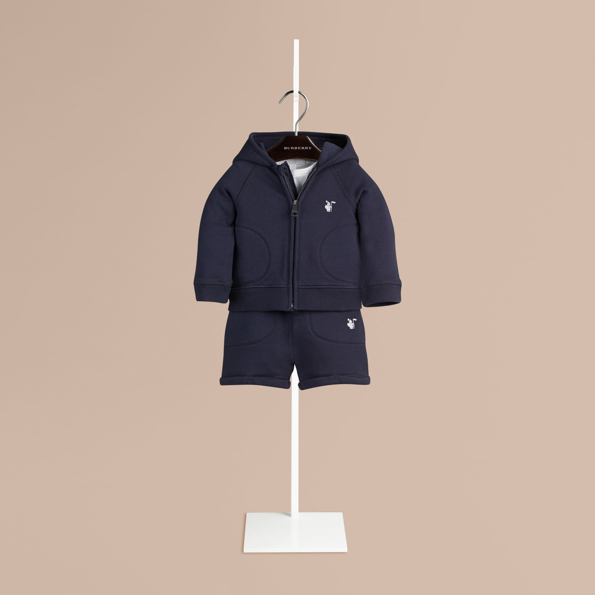 Navy Cotton Jersey Two-piece Set - gallery image 1