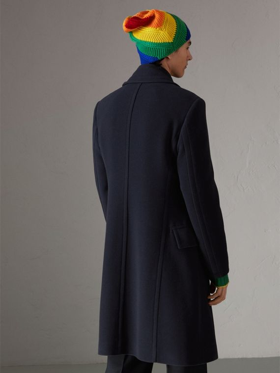 Wool Cashmere Overcoat in Dark Blue | Burberry United States - cell image 2