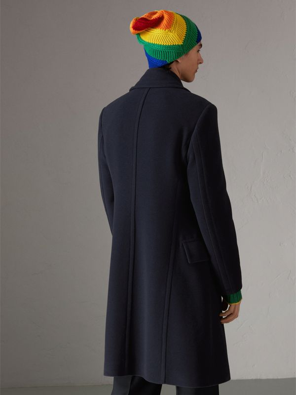Wool Cashmere Overcoat in Dark Blue | Burberry - cell image 2