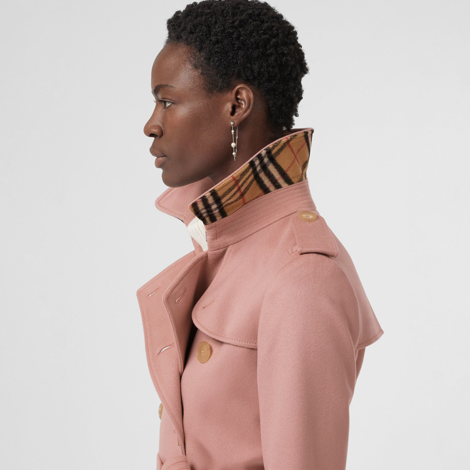 Cashmere Trench Coat in Chalk Pink - Women | Burberry Canada - gallery image 1