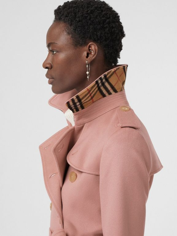 Cashmere Trench Coat in Chalk Pink - Women | Burberry - cell image 1