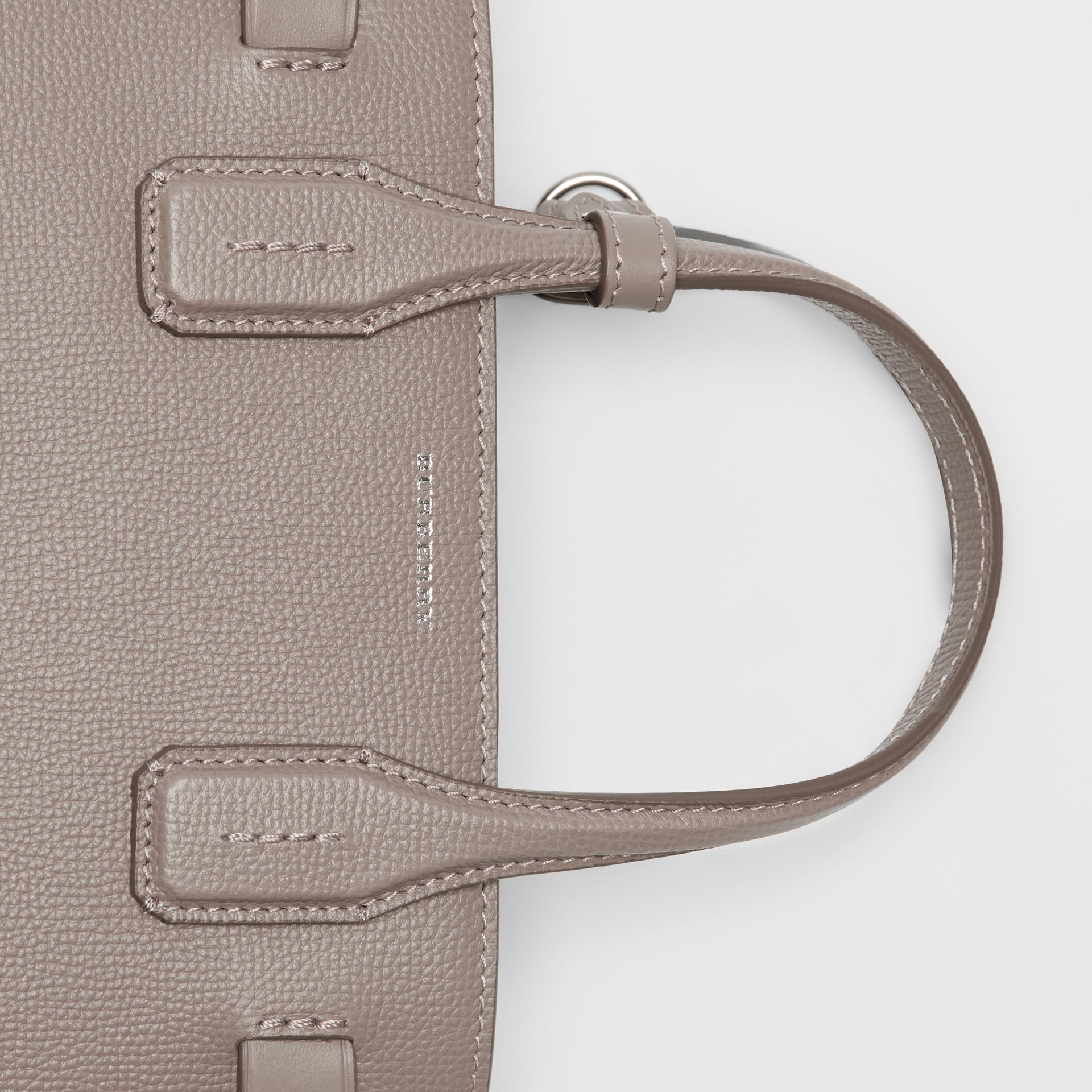 The Small Banner in Leather and Vintage Check in Taupe Brown - Women | Burberry - gallery image 1