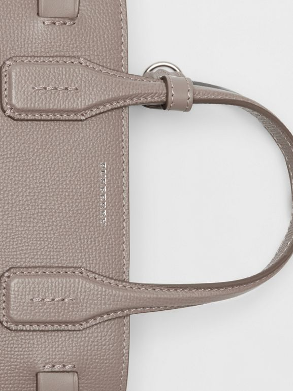 The Small Banner in Leather and Vintage Check in Taupe Brown - Women | Burberry United States - cell image 1