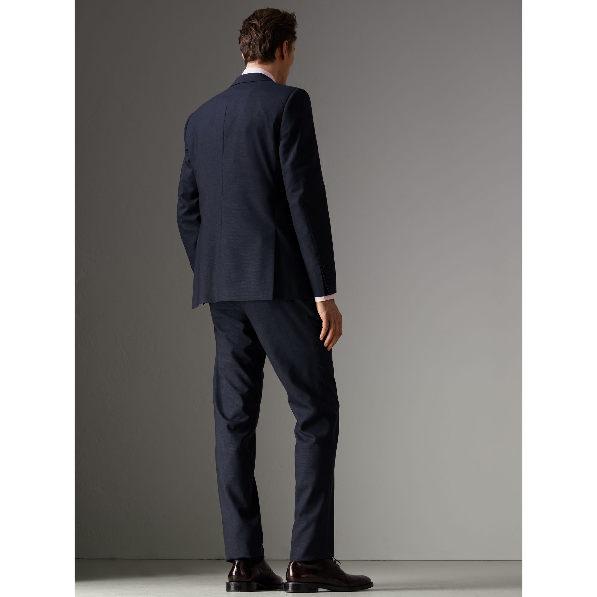 Modern Fit Wool Half-canvas Suit in Navy - Men | Burberry - gallery image 2