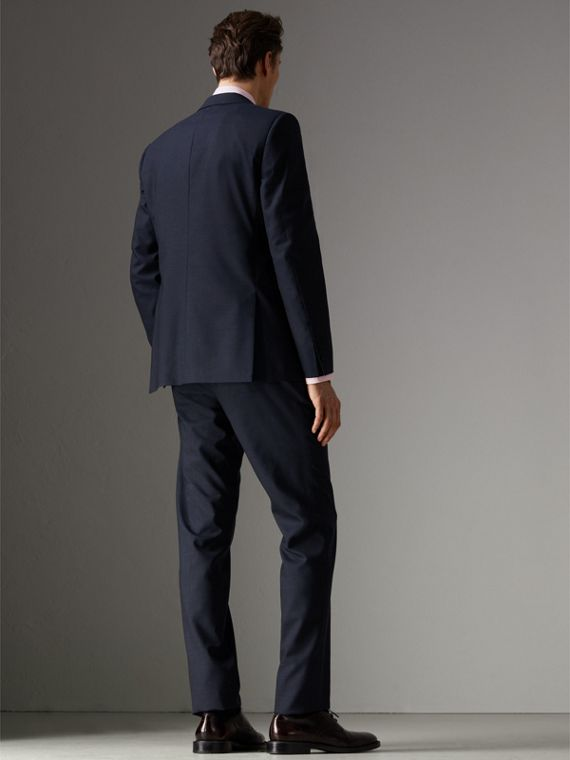 Modern Fit Wool Half-canvas Suit in Navy - Men | Burberry - cell image 2