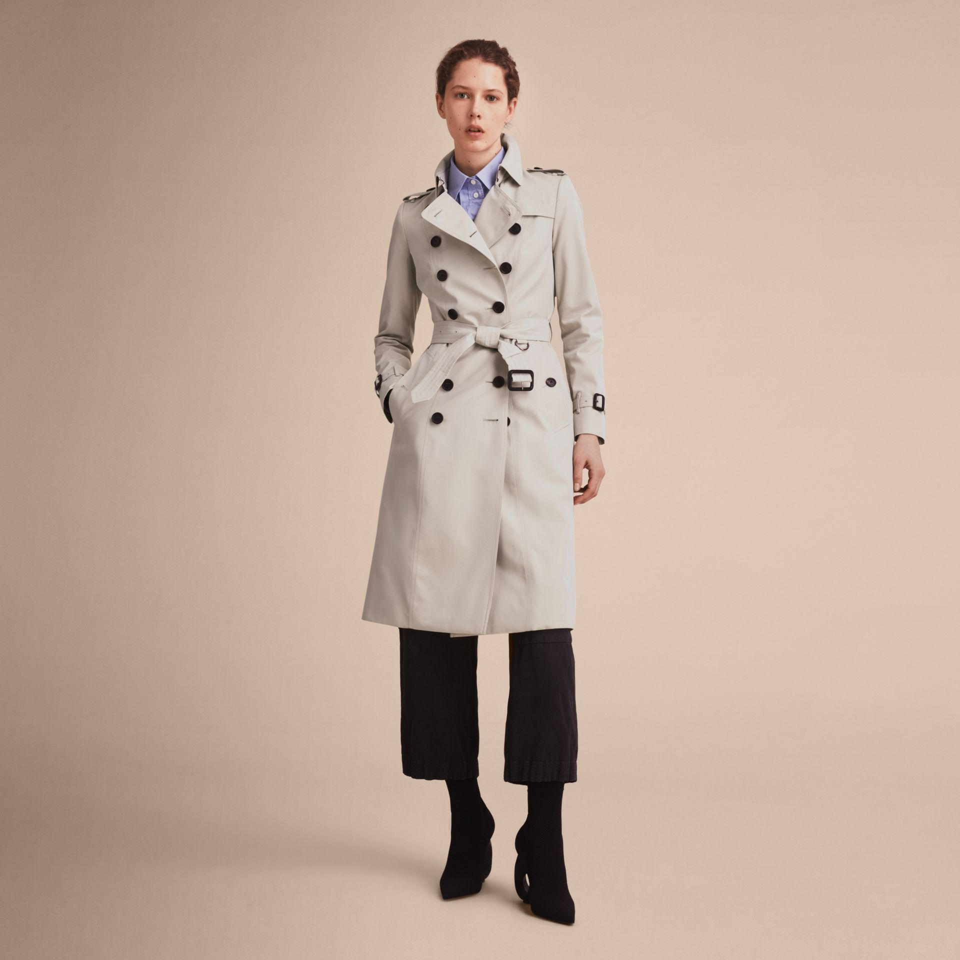 Stone The Chelsea – Extra-long Heritage Trench Coat Stone - gallery image 8