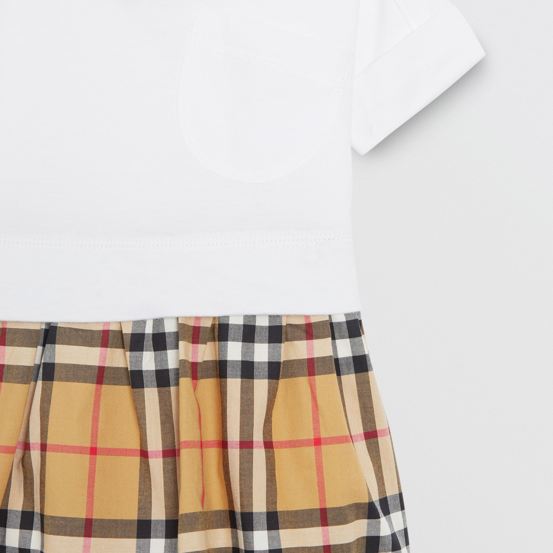 Vintage Check Cotton Dress with Bloomers in White - Children | Burberry Hong Kong - gallery image 4