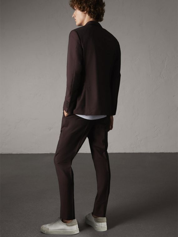 Soho Fit Wool Mohair Suit in Chestnut Brown - Men | Burberry - cell image 2