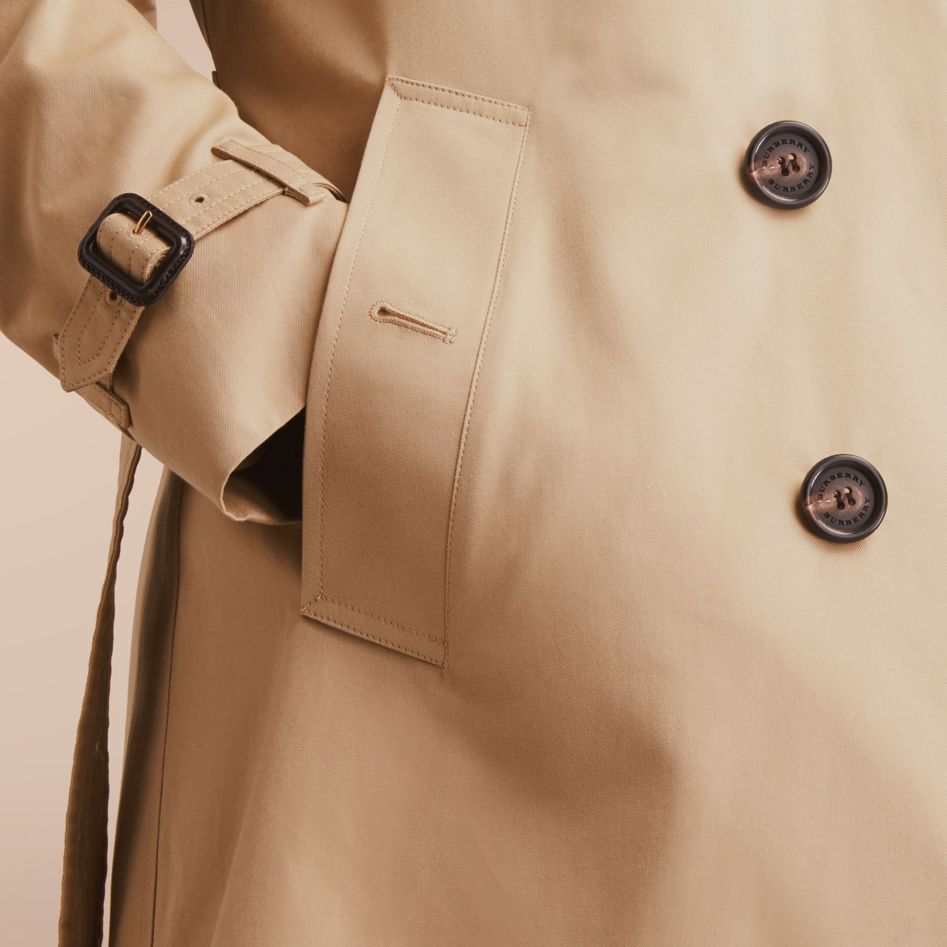 The Chelsea – Mid-length Heritage Trench Coat in Honey - gallery image 5
