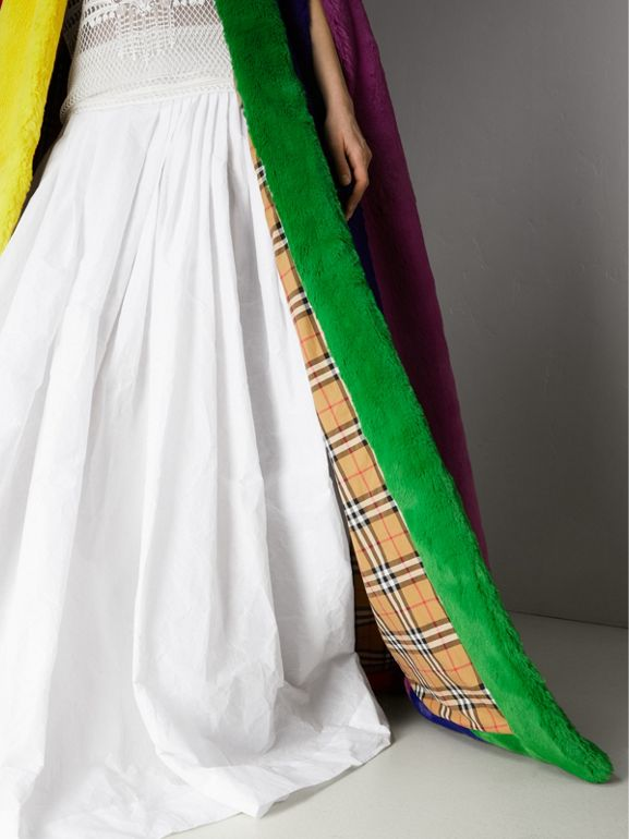 Rainbow Faux Fur Cape - Women | Burberry Singapore - cell image 1
