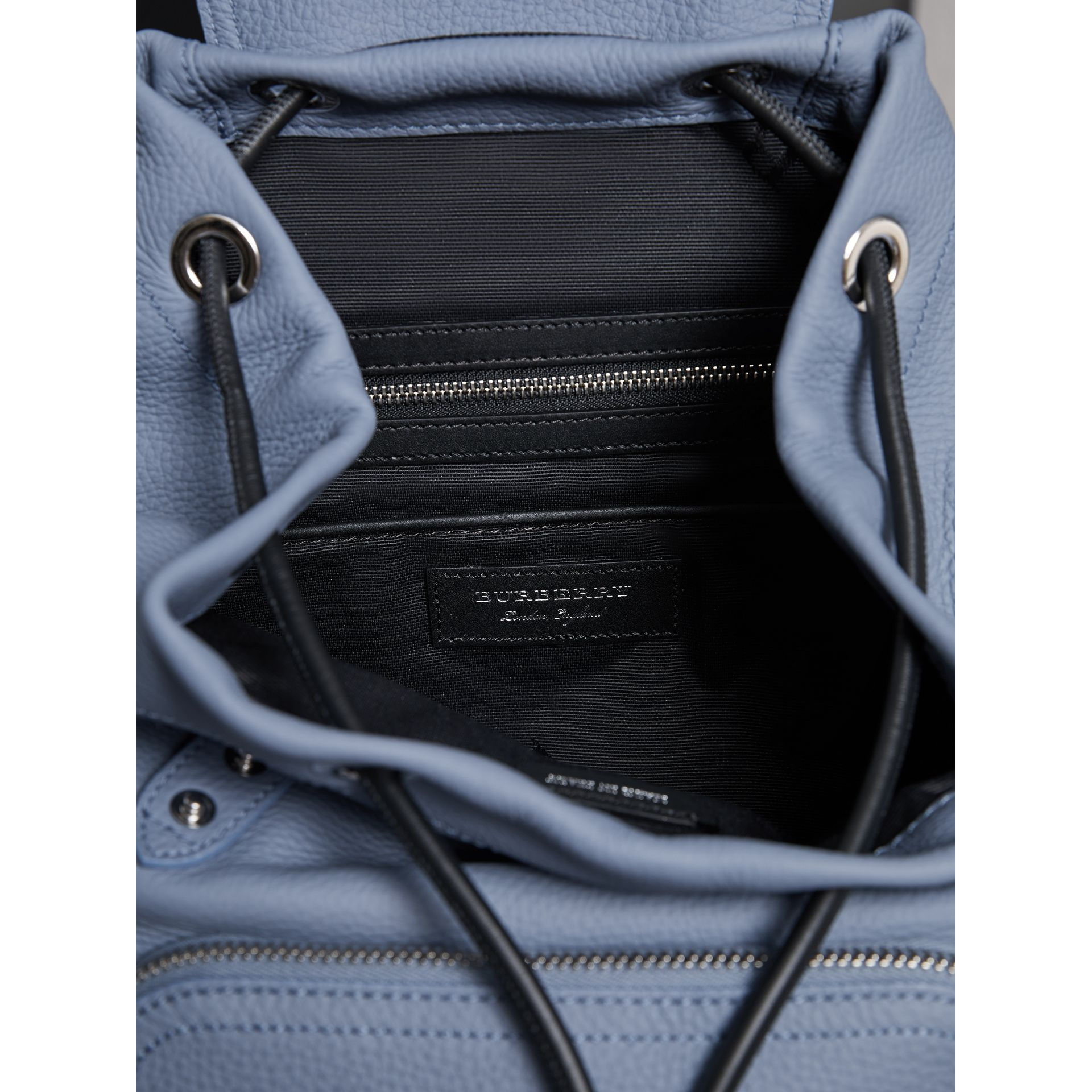 The Medium Rucksack in Deerskin with Resin Chain in Slate Blue - Women | Burberry - gallery image 4
