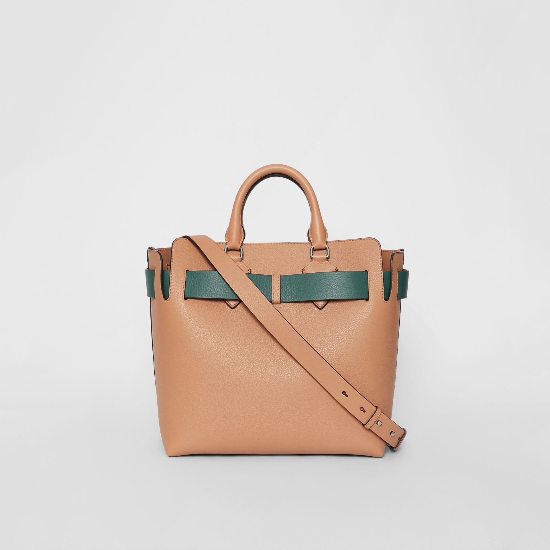 The Medium Leather Belt Bag in Light Camel - Women | Burberry United Kingdom - gallery image 5