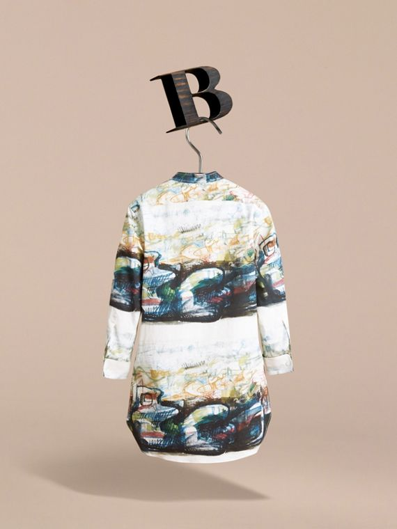 Reclining Figure: Bunched Print Shirt Dress - Girl | Burberry - cell image 3