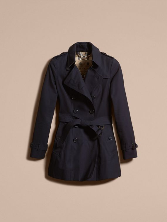 Navy The Chelsea – Short Heritage Trench Coat Navy - cell image 3