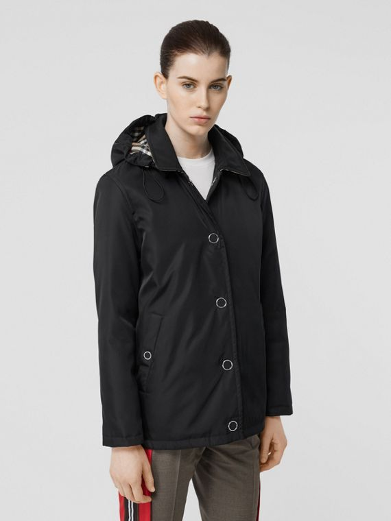 Detachable Hood ECONYL® Jacket in Black