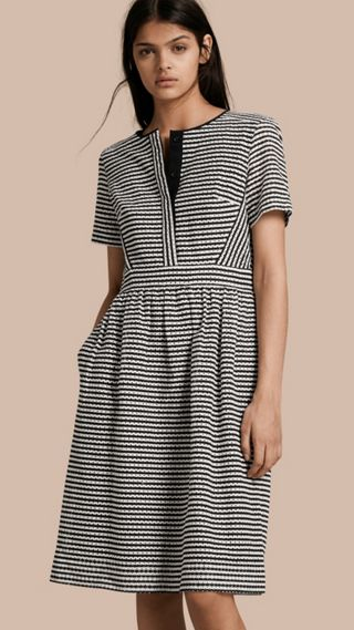 Striped Cotton Broderie Dress