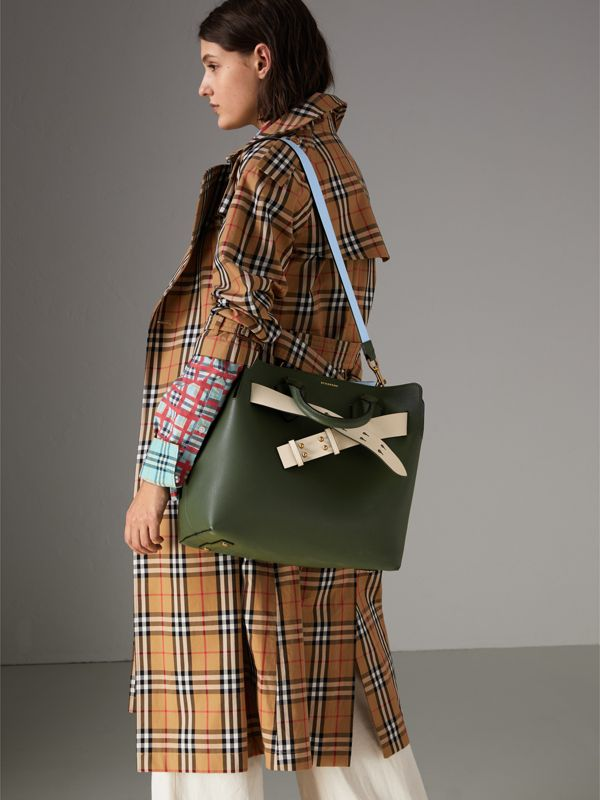 The Medium Leather Belt Bag in Sage Green - Women | Burberry - cell image 3
