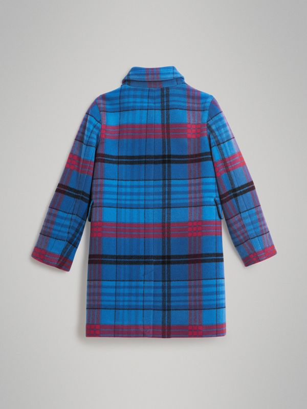 Check Wool Tailored Coat in Mineral Blue - Children | Burberry - cell image 3