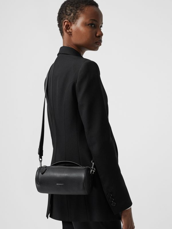 The Leather Barrel Bag in Black - Women | Burberry - cell image 3
