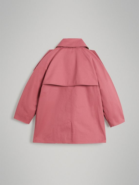 Showerproof Cotton Reconstructed Trench Coat in Rose Pink - Girl | Burberry - cell image 3