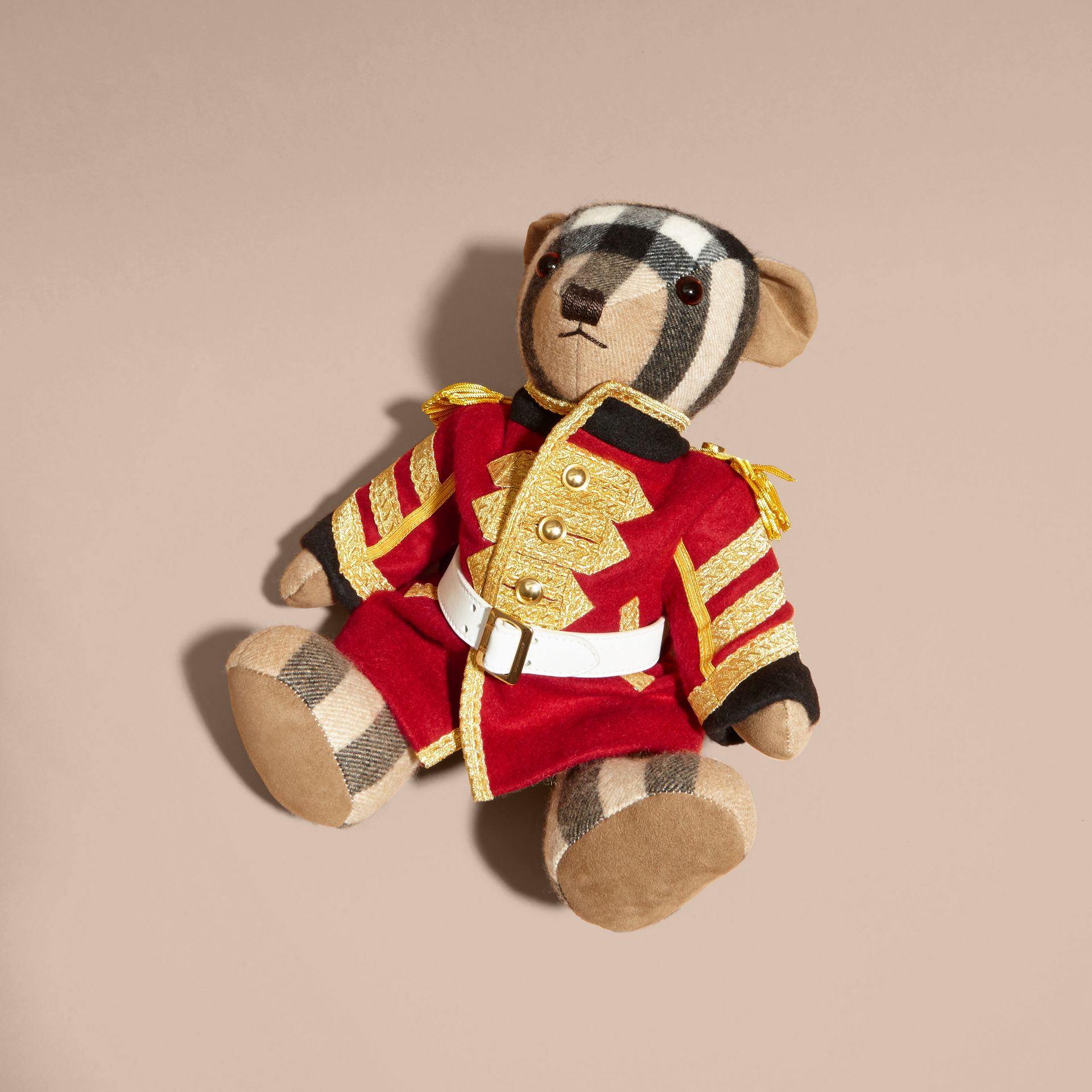 Camel Regimental Thomas Bear in Check Cashmere - gallery image 3