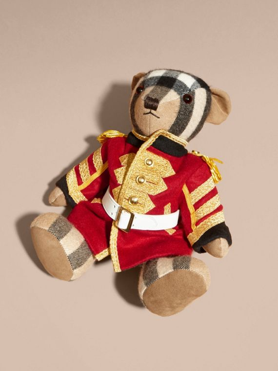 Regimental Thomas Bear in Check Cashmere in Camel | Burberry - cell image 2