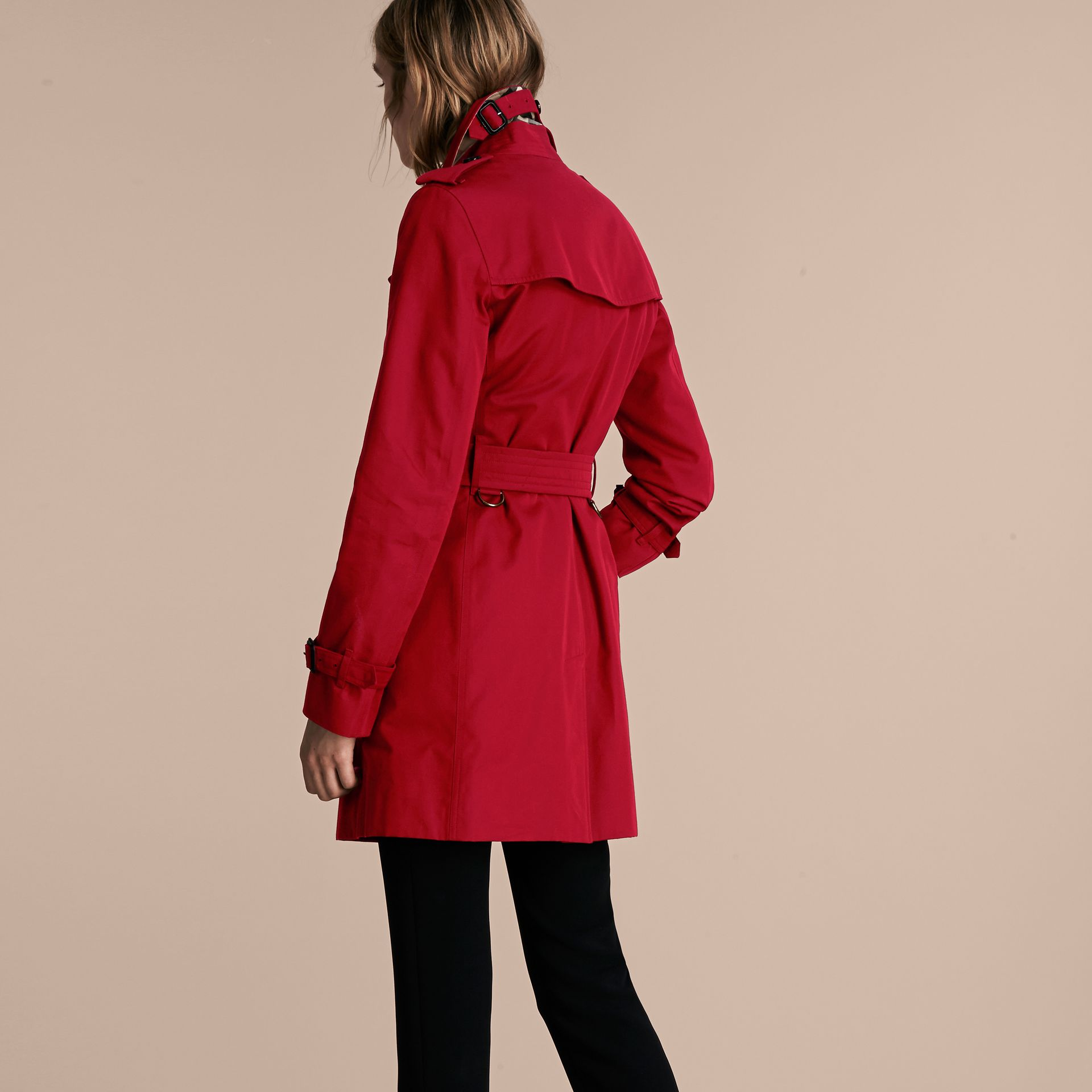 Parade red The Kensington – Mid-Length Heritage Trench Coat Parade Red - gallery image 3