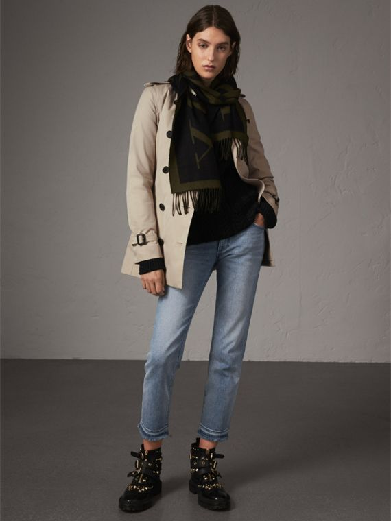 Trench coat Kensington corto (Piedra)