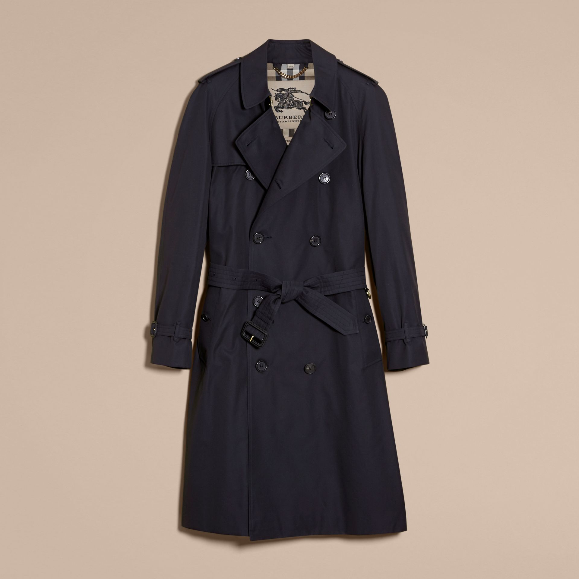 Navy The Westminster – Long Heritage Trench Coat Navy - gallery image 4