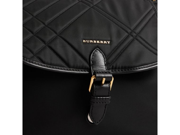 Check-quilted Baby Changing Shoulder Bag in Black | Burberry - cell image 1