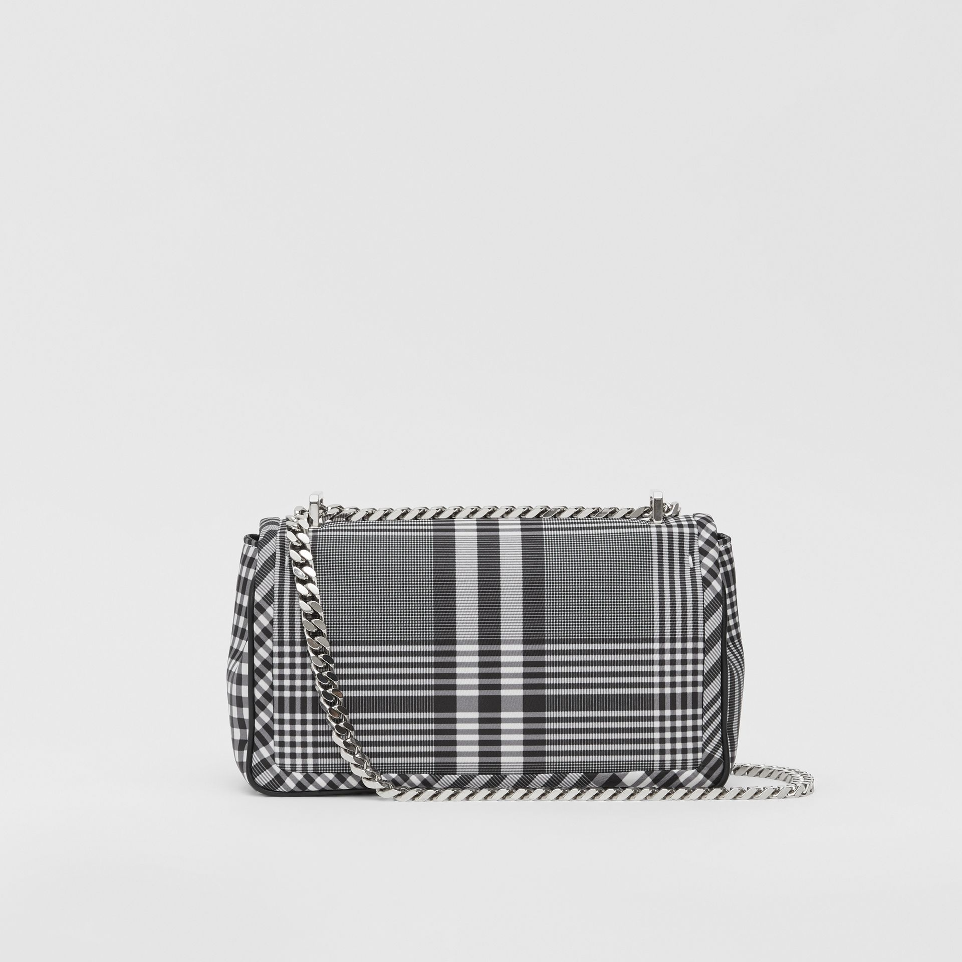 Small Check Nylon Lola Bag in Black/white - Women | Burberry Australia - gallery image 7