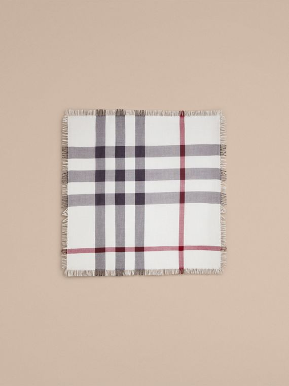 Ivory check Check Wool Square - Large Ivory - cell image 3