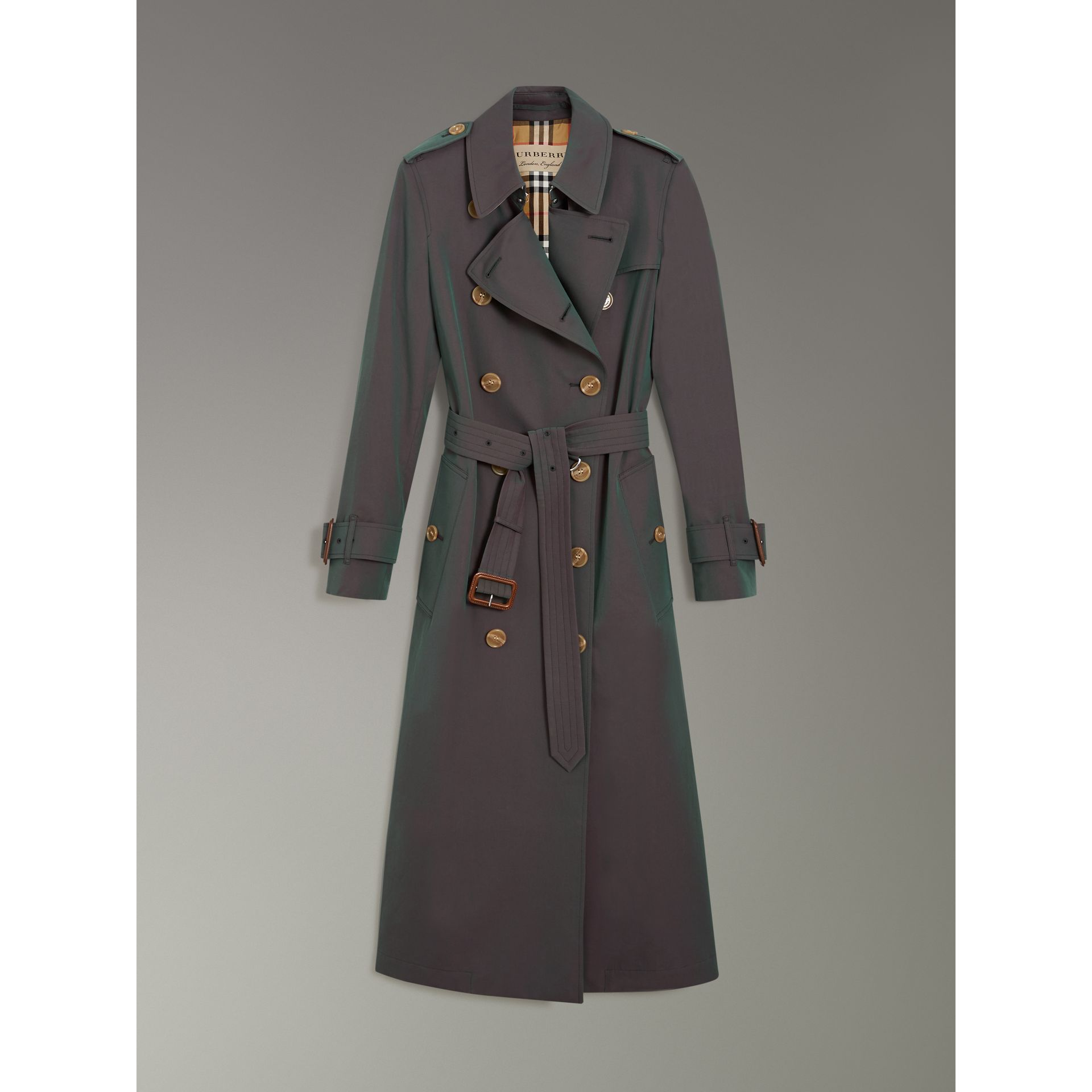 Tropical Gabardine Trench Coat in Dark Antique Green - Women | Burberry United States - gallery image 3