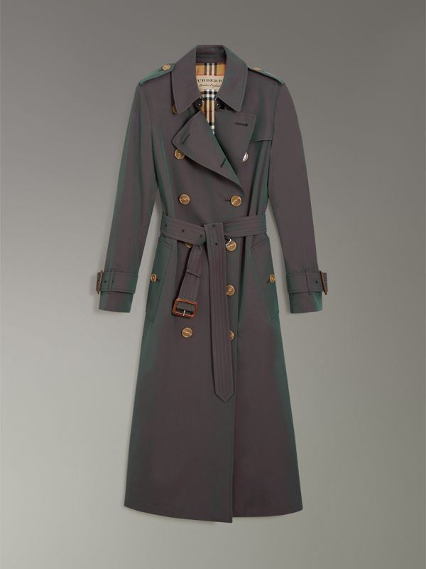 Tropical Gabardine Trench Coat in Dark Antique Green - Women | Burberry United States - cell image 3