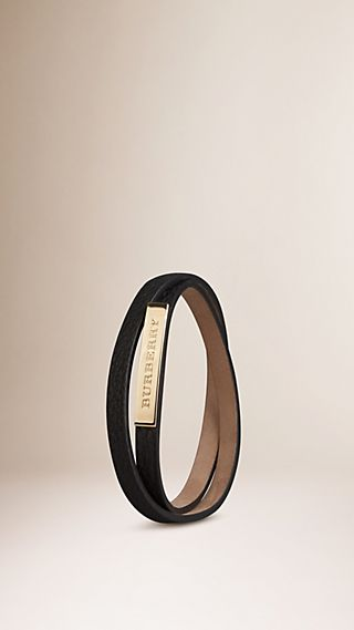 Grainy Leather Wraparound Bracelet