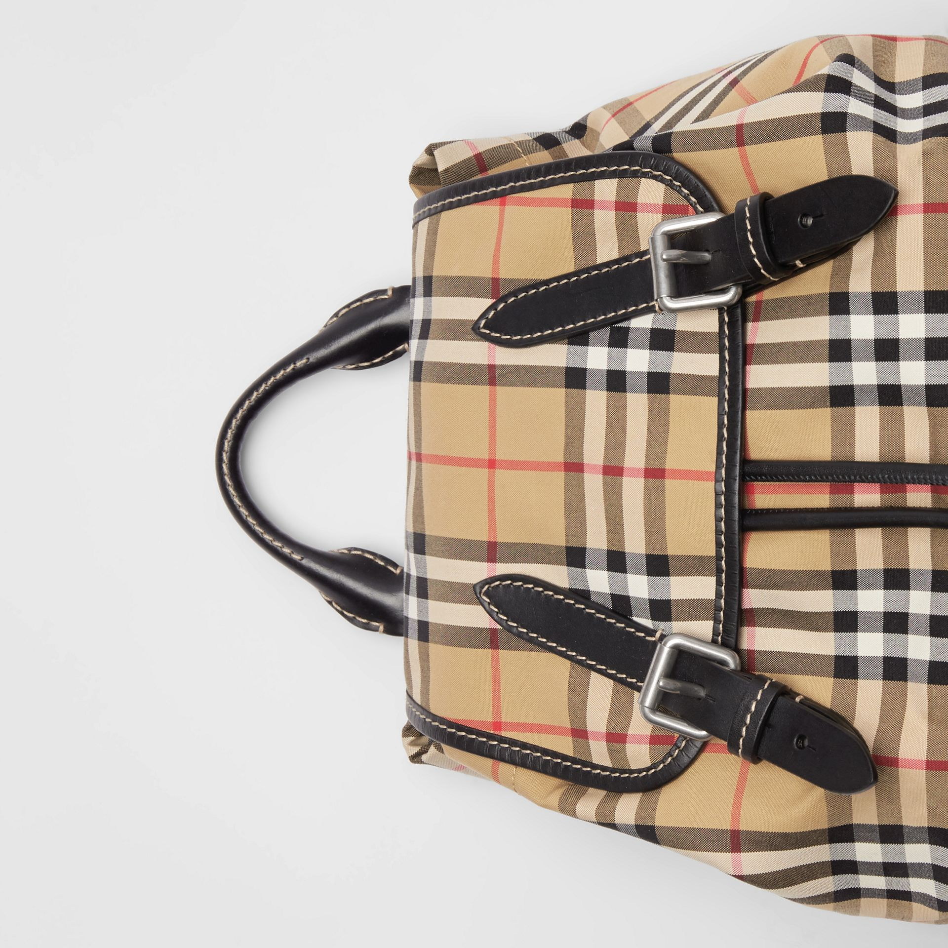 The Medium Rucksack in Vintage Check Cotton Canvas in Antique Yellow - Women | Burberry - gallery image 1