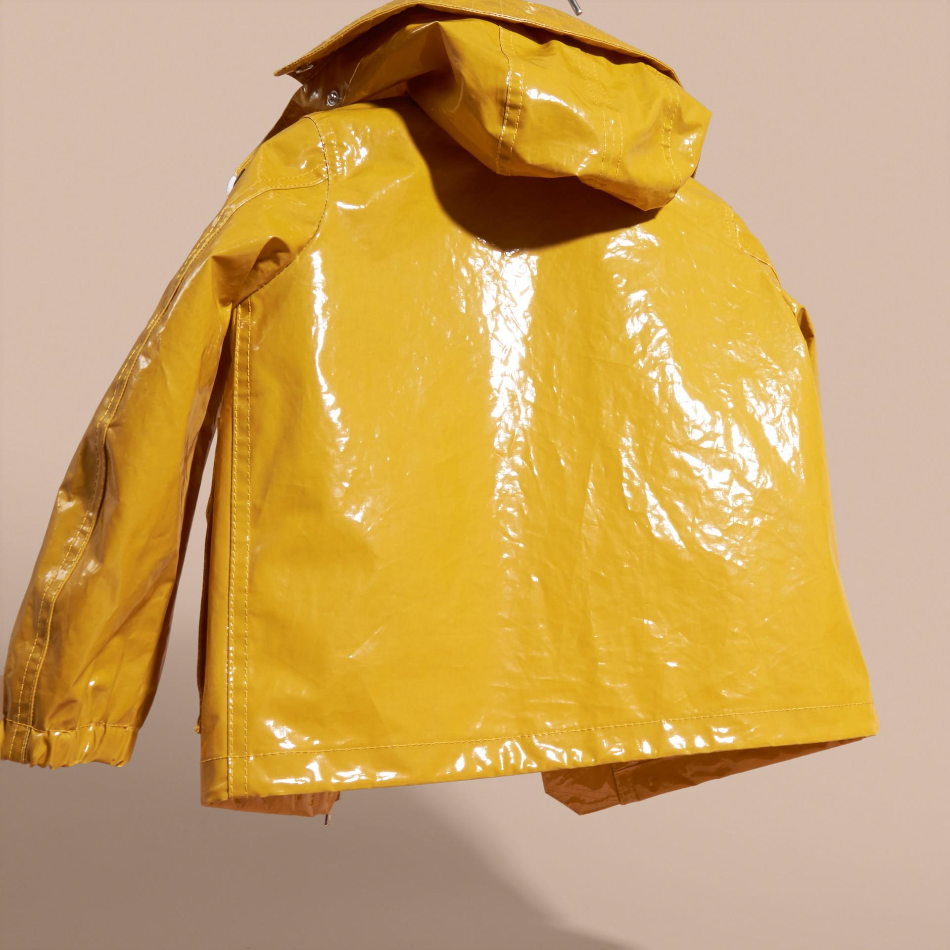 Glossy Showerproof Jacket with Detachable Hood - gallery image 4