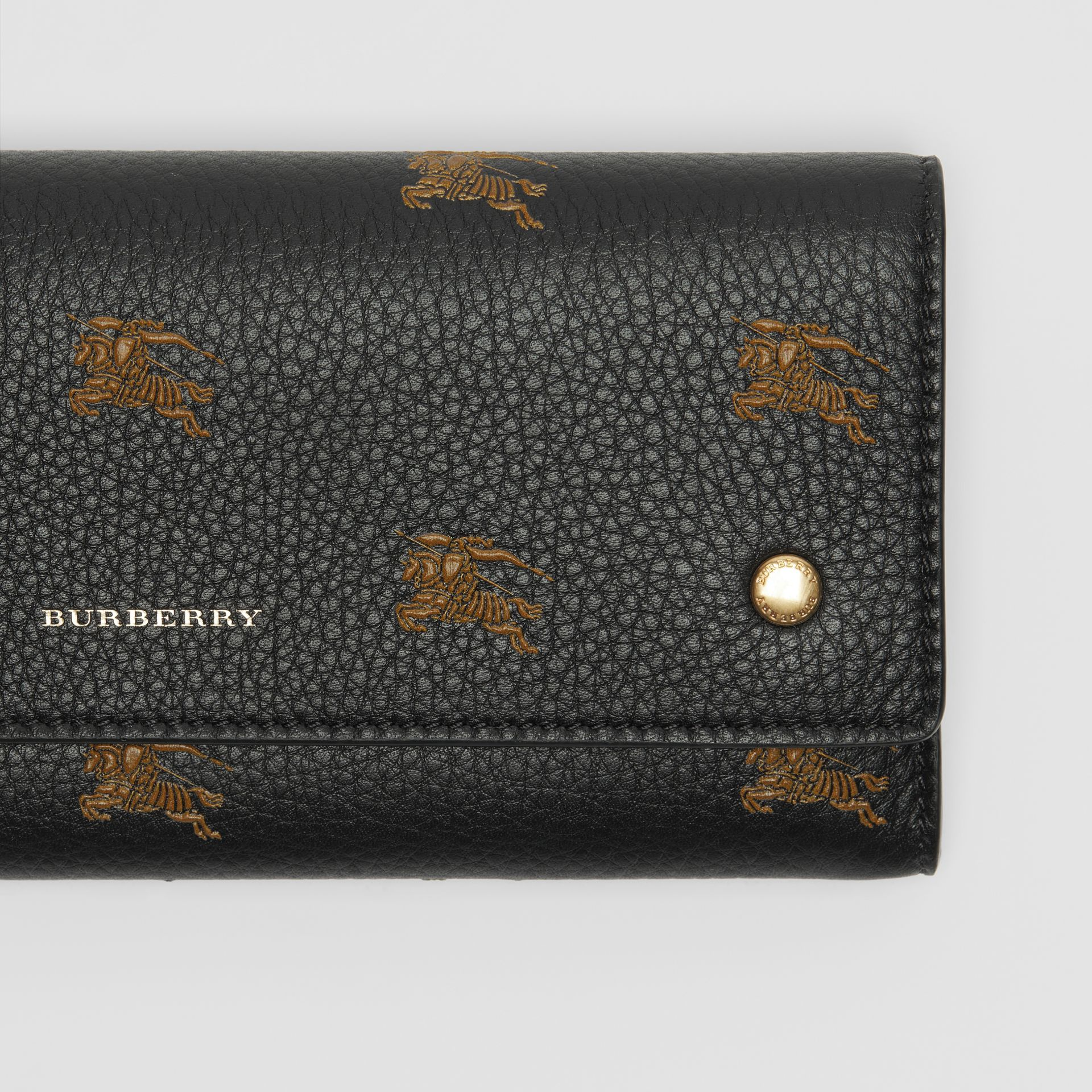EKD Leather Continental Wallet in Black - Women | Burberry Australia - gallery image 1