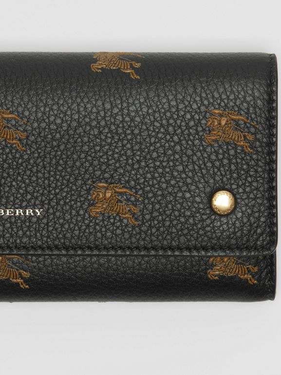 EKD Leather Continental Wallet in Black - Women | Burberry Australia - cell image 1