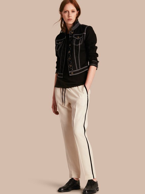 Tailored Silk Track Pants