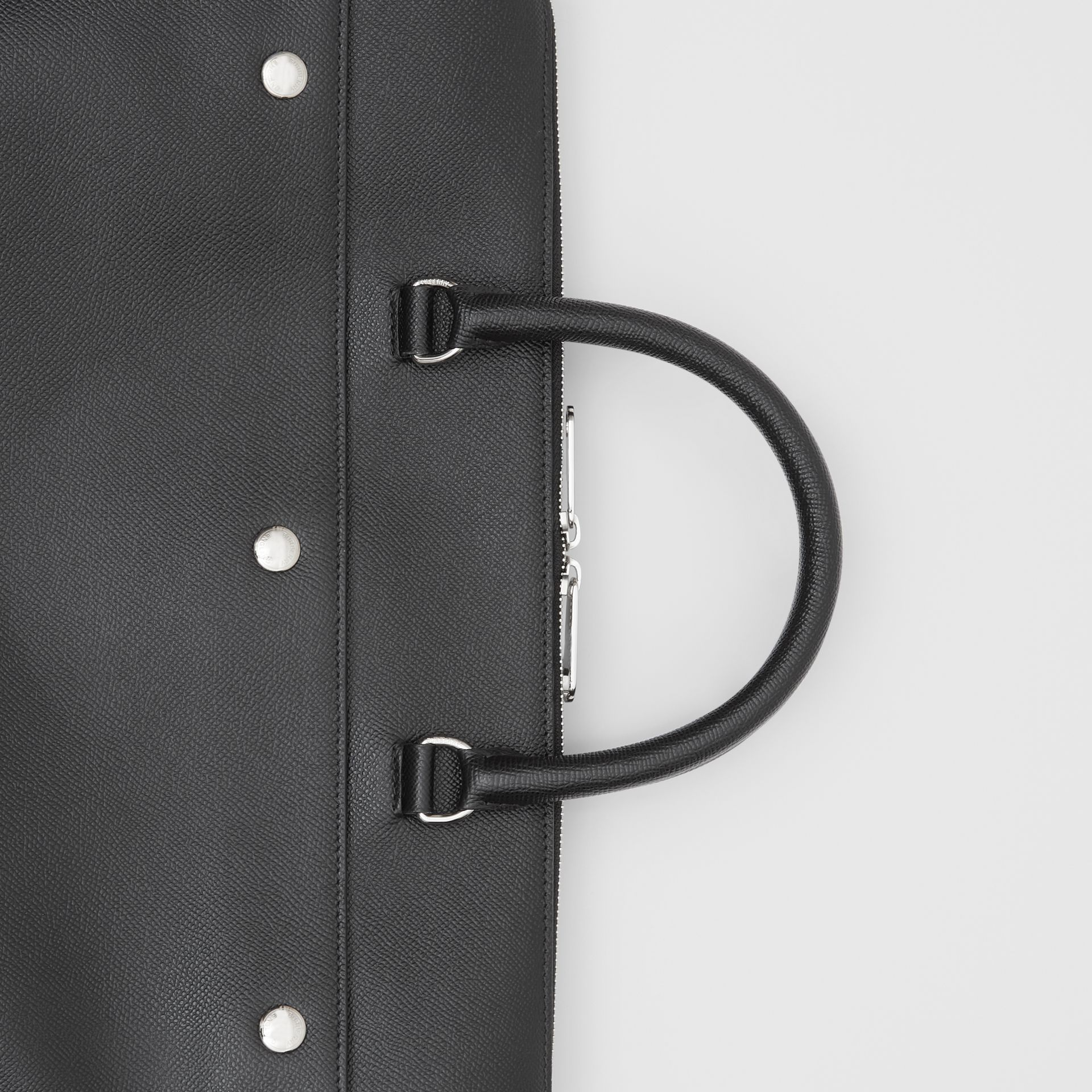 Triple Stud Grainy Leather Briefcase in Black - Men | Burberry Singapore - gallery image 1