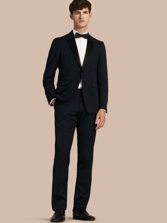 Modern Fit Virgin Wool Half-canvas Tuxedo - Men | Burberry Canada