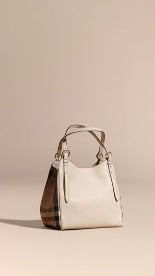 Petit sac The Canter en cuir et coton à motif House check