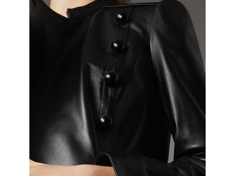 Lambskin Double-breasted Jacket in Black - Women | Burberry - cell image 1
