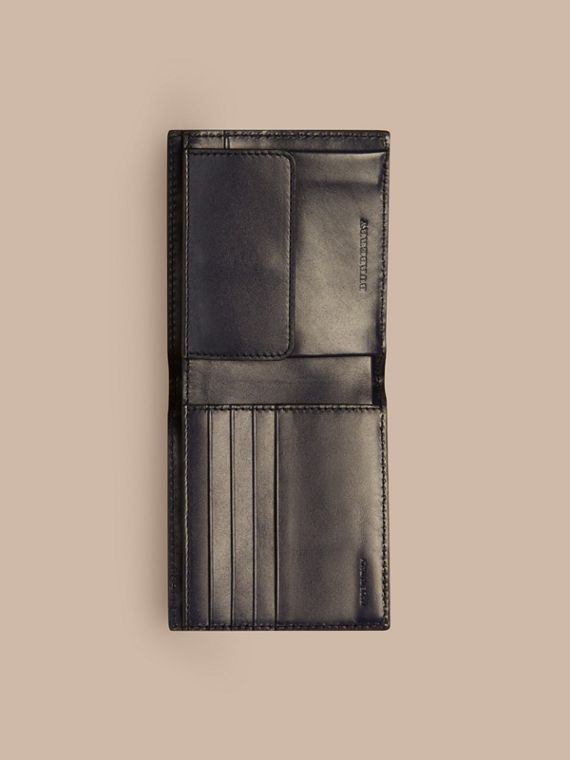 London Leather International Bifold Coin Wallet in Dark Navy - Men | Burberry - cell image 3