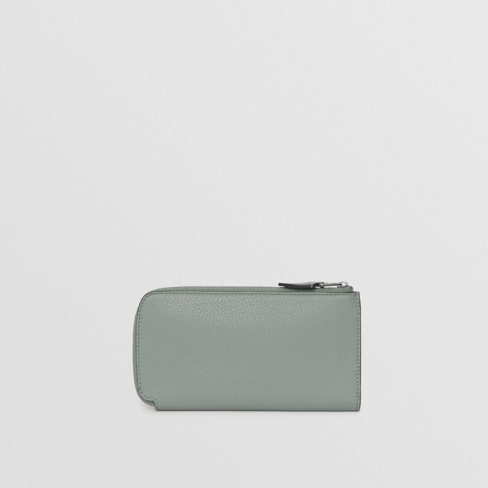 Two-tone Leather Ziparound Wallet and Coin Case in Grey Blue - Women | Burberry United States - gallery image 5